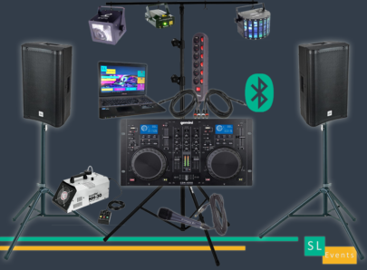 80-sono-micro-bluetooth-dj-location-pack-lumière-son-effets-led-machine-à-fumée-laser-projecteur-soirée-éclairage-stroboscope-enceintes