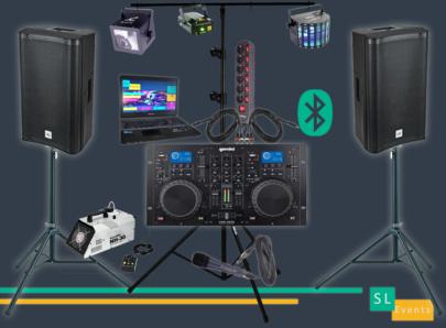 95-sono-micro-bluetooth-dj-location-pack-lumière-son-effets-led-machine-à-fumée-laser-projecteur-soirée-éclairage-stroboscope-enceintes